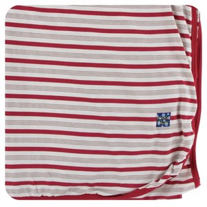 Kickee Pants Holiday Throw Blanket (Rose Gold Candy Cane Stripe - One Size)