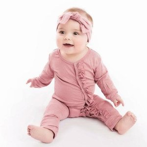 Posh Peanut Dusty Rose One Piece Romper