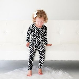 Posh Peanut Black Leaves Loungewear