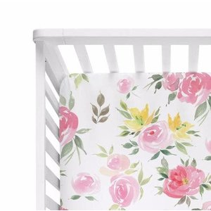 Posh Peanut Watercolor Bloom Crib Sheet