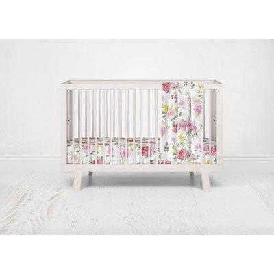 Posh Peanut Watercolor Bloom Crib Sheet