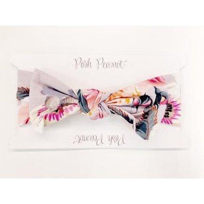 Posh Peanut French Gray Floral Headwrap