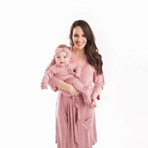 Posh Peanut Dusty Rose Robe