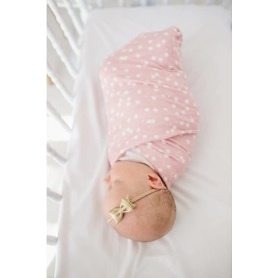 Copper Pearl knit swaddle blanket - lucy