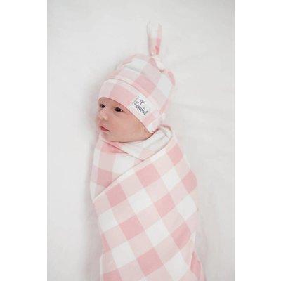 Copper Pearl newborn top knot hat - london