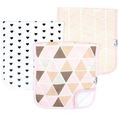 Copper Pearl premium burp cloths - blush