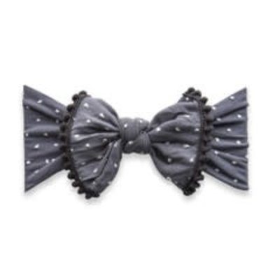 Baby Bling Trimmed Patterned Shabby Knot (Storm Dot)