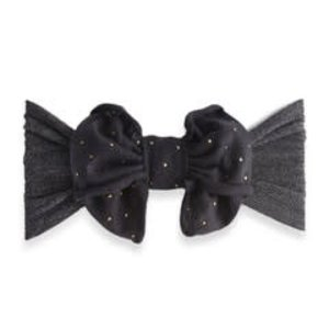 Baby Bling Jersey Bow (charcoal/metal stud)