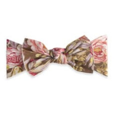 Baby Bling Printed Knot (gold leaf peony)