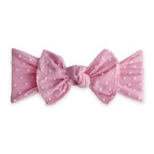 Baby Bling Patterned Shabby Knot (bubblegum dot)