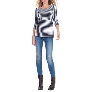 Seraphine Laina 3/4 Stripe Nursing Top