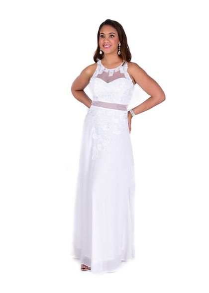 Full length Applique with Invisible Waistline Dress