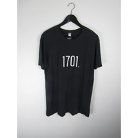 Distressed 1701 Tee-Black
