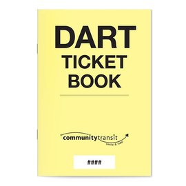 New Fare effective October 1st - DART Ticket Book