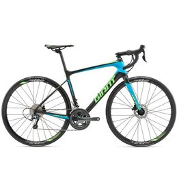 Giant 2018 Giant Defy Advanced 3 M Matte Carbon Smoke/Blue/Neon Green