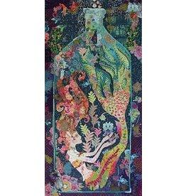 Sirene Mermaid in a Bottle Collage