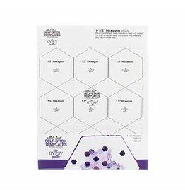 Stitch Fast Self-Stick Template 1 1/2 in Hexagon