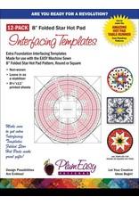 """8"""" Hot Pad Interfacing Templates-12 Pack"""