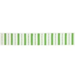 Stripes Grosgraine Ribbon-Lime