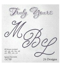 OESD Truly Yours Embroidery Design CD