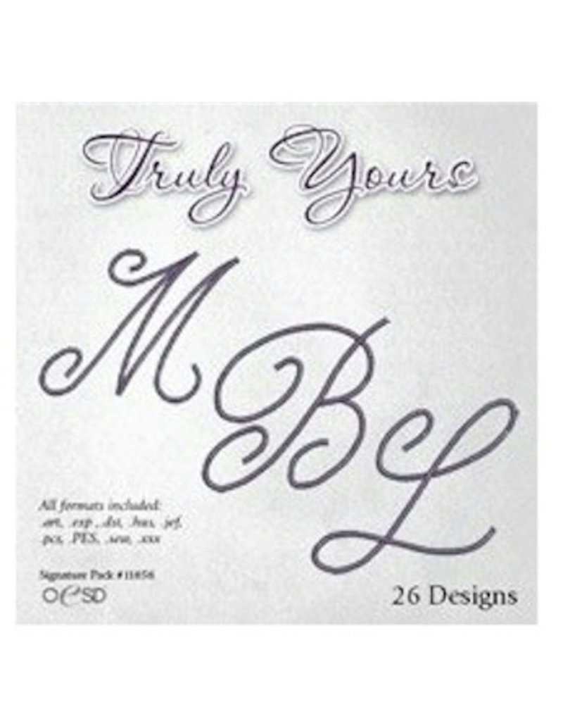 Oesd Truly Yours Embroidery Design Cd Going Batty