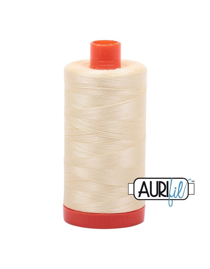 Aurifil 50 wt. Piecing Thread-2110 Light Lemon