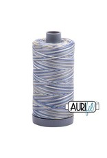 Aurifil 28 wt. Quilting Thread Variegated-4649 Lemon Blueberry
