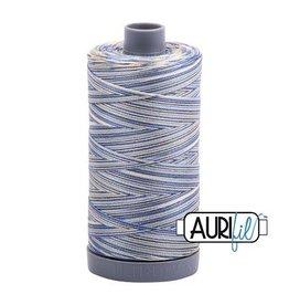 Aurifil 28 wt. Quilting Thread Variegated-4649 Lemon Blueberry