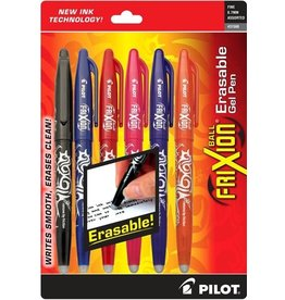 Frixion Erasable Gel Pen 6pc Assorted