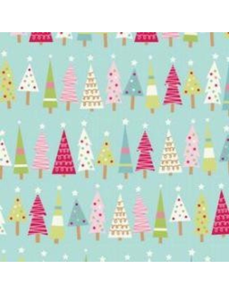 Be Merry Flannel F7014-Blue