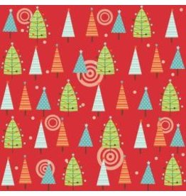 Colorful Christmas F7082-Red