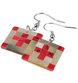 Red Cross Earrings