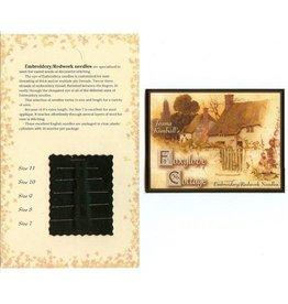 Embroidery/Redwork Needle Sampler Card