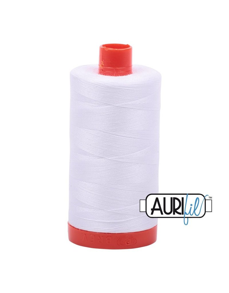 Aurifil 50 wt. Piecing Thread-2024 White