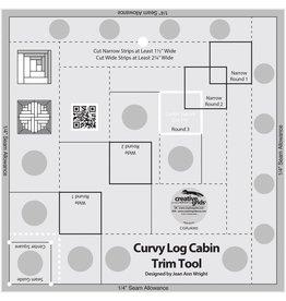 Creative Grids Curvy Log Cabin Trim Tool 8in Finished Blocks