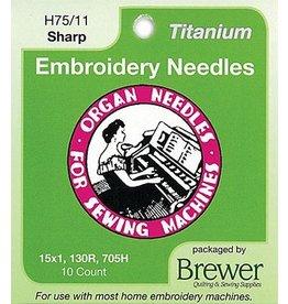 Organ Titanium Needle 10 Pack- 11 Sharp