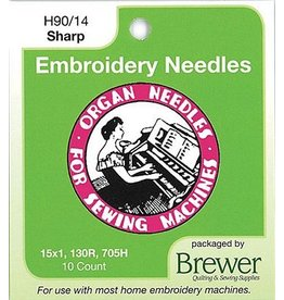 Organ Titanium Needles 10 Pack- 90/14 Sharp