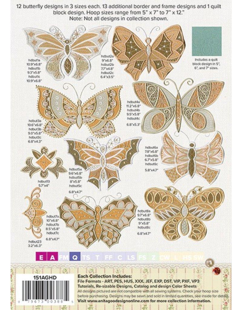 Antique Butterflies Design Pack
