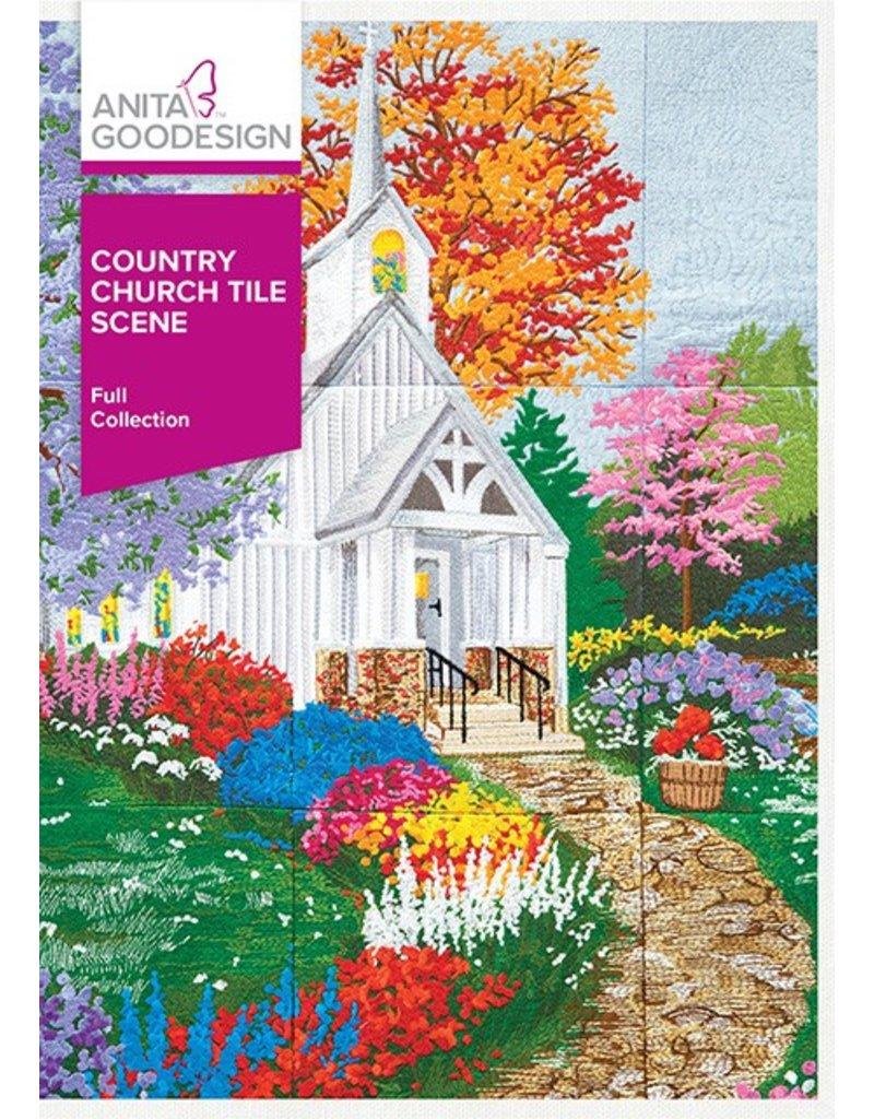 Country Church Tile Scene Design Pack