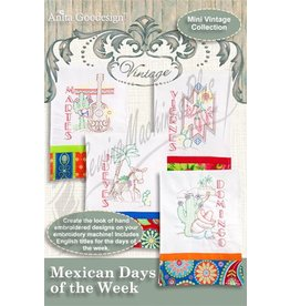 Mexican Days Of The Week Design Pack