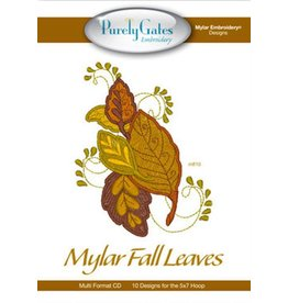 Mylar Fall Leaves Design Pack