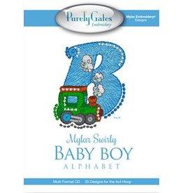 Mylar Swirly Baby Boy Alphabet Design Pack