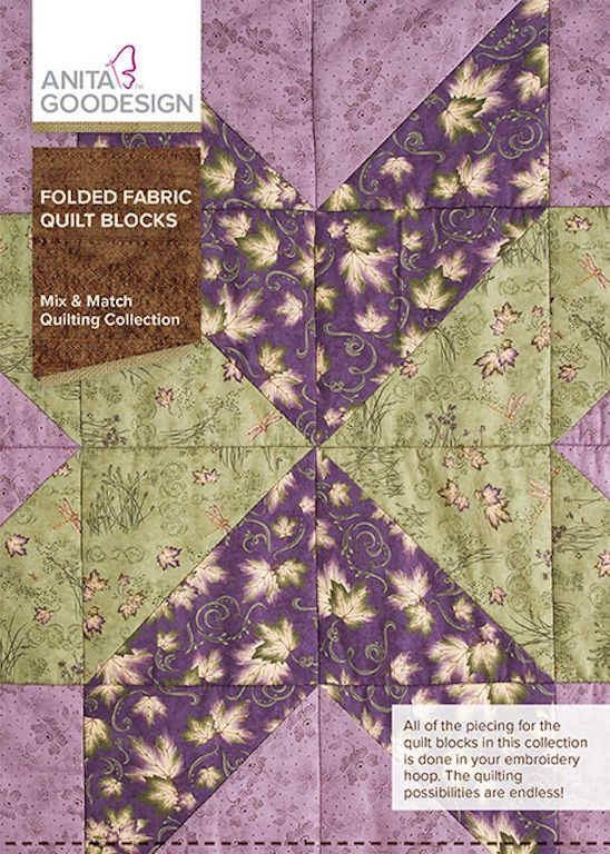 Folded Fabric Quilt Blocks Design Pack - going batty! on