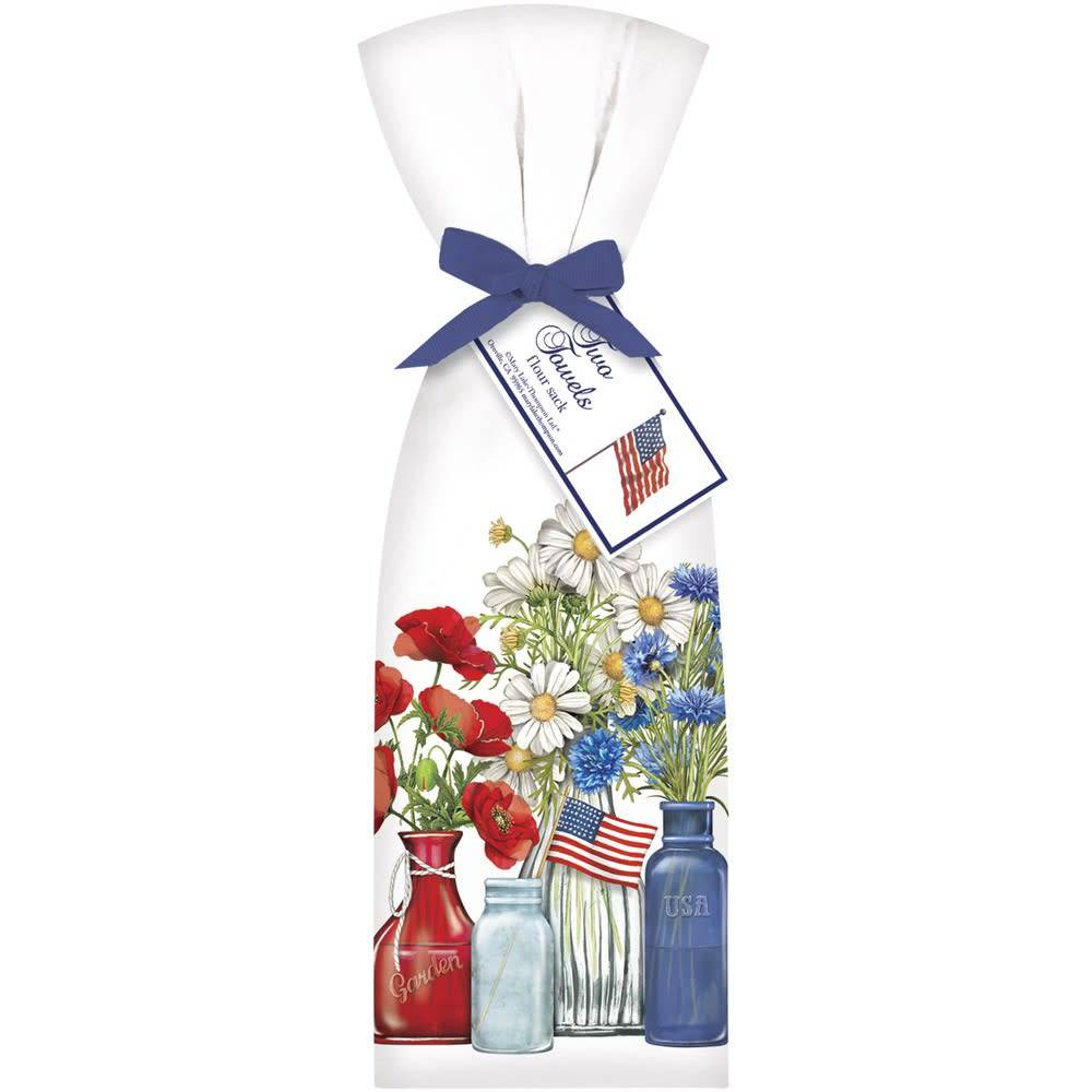 Patriotic flowers bagged towel izmirmasajfo