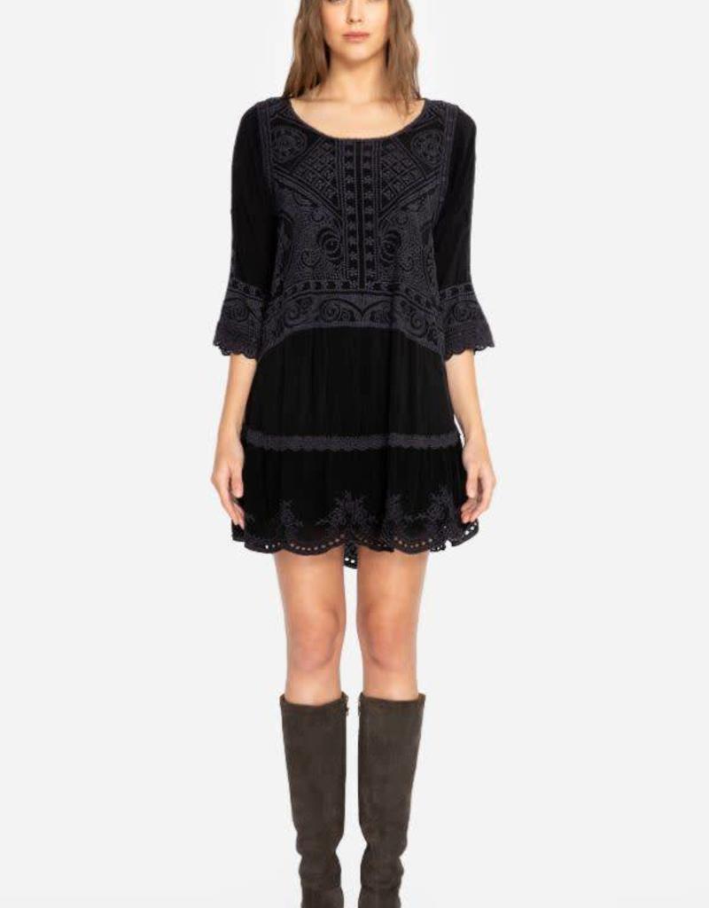 Dotted geo tunic dress