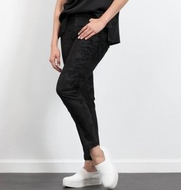 Camo jacquard skinny pants