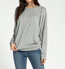 Pleated detaile sweatshirt