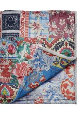 Patchwork cozy blanket blue multi