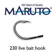 Maruto Hooks Maruto Live bait hook 10/0 black Nickel 5pk