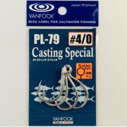 Vanfook Hooks Vanfook  PL-79 Casting In-line hook welded 8/0